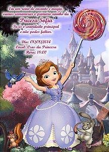 Convite Princesa Sofia com pirulito