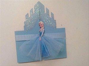 Convite Frozen com saia de tule
