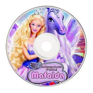 Rótulo adesivo CD/DVD - Barbie 002