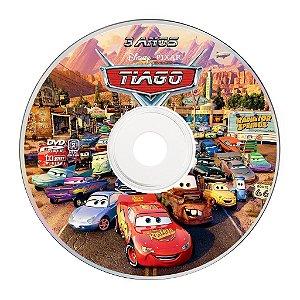 Rótulo adesivo CD/DVD - Carros da Disney