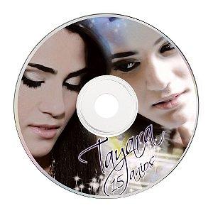 Rótulo adesivo CD/DVD - 15 Anos