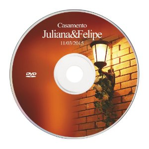 Rótulo adesivo CD/DVD - Casamento 029