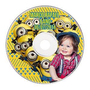 Rótulo adesivo CD/DVD - Minions