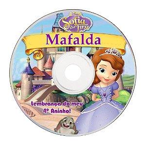 Rótulo adesivo CD/DVD - Princesa Sofia