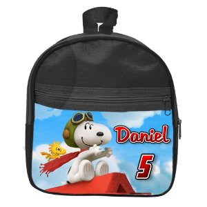 Mochila personalizada Snoopy e Charlie Brown