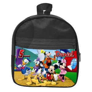 Mochila personalizada A Casa do Mickey Mouse