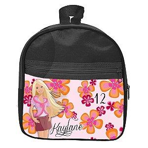 Mochila personalizada Barbie Flores