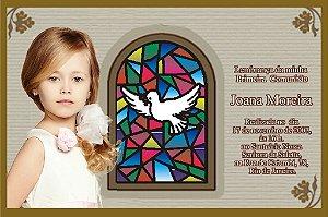 Convite ou lembrancinha digital de Comunhão 003