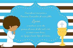 Convite ou lembrancinha digital de Comunhão 014