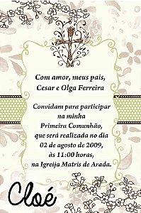 Convite ou lembrancinha digital de Comunhão 046