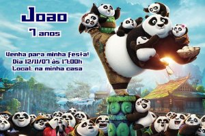Convite digital personalizado Kung Fu Panda 007