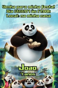 Convite digital personalizado Kung Fu Panda 008