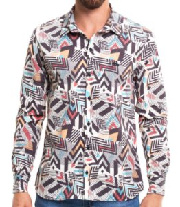 Camisa Estampada Masculina Manga Longa African