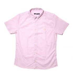 Camisa Masculina Manga Curta Botonê Rosa