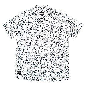 Camisa Estampada Masculina Manga Curta Tricoline Floral Mayflower