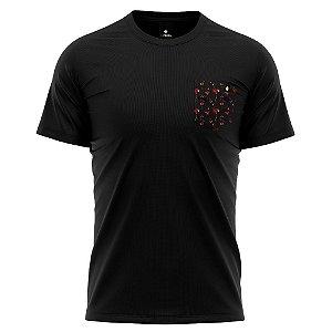 Camiseta Bolso Estampado - Flamenco