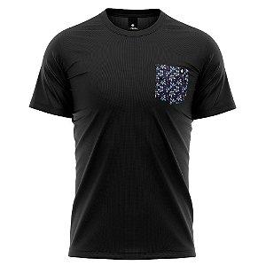 Camiseta Bolso Estampado - Blueberry