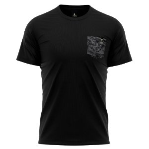 Camiseta Bolso Estampado - Black Tropical