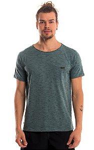 Camiseta Básica Algodão Mescla LaVíbora - Verde Militar