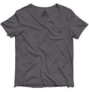 Camiseta Tingida Básica Algodão 30.1 LaVíbora - Chumbo