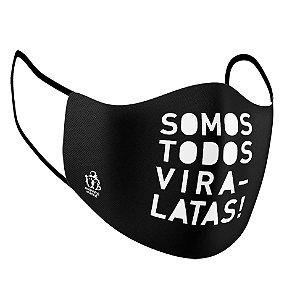 """Máscara de Tecido """"Estilo Ninja"""" Dupla Camada 100% Algodão - Somos Todos Vira-Latas (AMPARA ANIMAL)"""
