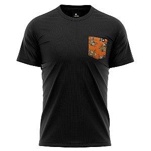 Camiseta Bolso Estampado - Abacaxi Tropical