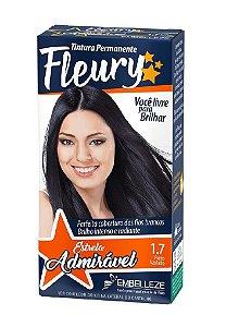 FLEURY Coloração Permanente Kit 1.7 Preto Azulado