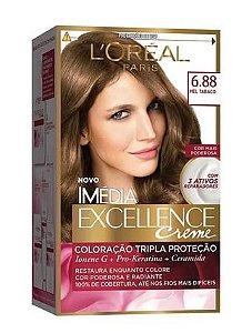 IMÉDIA Excellence Coloração Permanente 6.88 Mel Tabaco