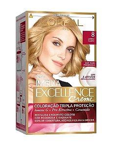 IMÉDIA Excellence Coloração Permanente 8 Louro Claro