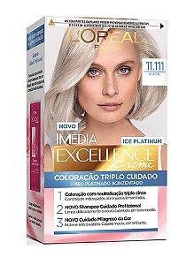 IMÉDIA Excellence Ice Platinum Coloração Permanente 11.111 #fatal