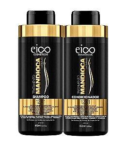 EICO Mandioca Kit Tratamento de Cabelos Frágeis Shampoo + Condicionador 450ml