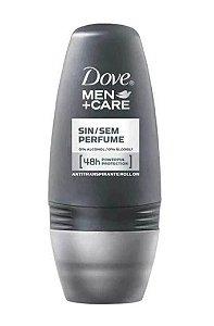 DOVE MEN +CARE Desodorante Antitranspirante Roll On Sem Perfume 50ml (vencimento 06/21)