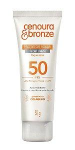 CENOURA & BRONZE Protetor Solar Facial FPS 50 Toque Seco 50g