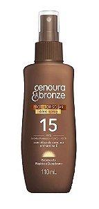 CENOURA & BRONZE Protetor Solar Óleo Spray FPS 15 110ml