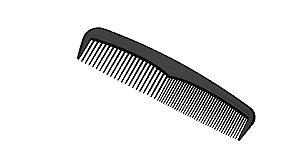 SANTA CLARA Pente Masculino de Plástico Belo Preto (3581)