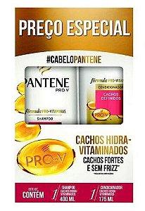 PANTENE Cachos Hidra-vitaminados Kit Shampoo 400ml + Condicionador 175ml
