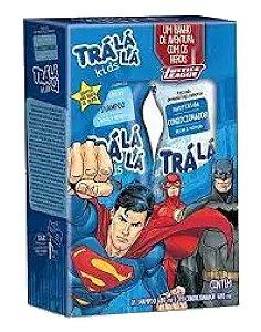 TRÁ LÁ LÁ Kids NutriKids Kit Brilho e Proteção Liga da Justiça Shampoo + Condicionador 480ml