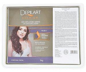 DEPILART Premium Cera Depilatória Quente Negra 1kg (vencimento 10/21)