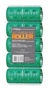 VERTIX Aluminium Roller Bob de Alumínio com Velcro 24mm Verde 5un (3079)