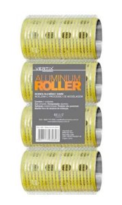 VERTIX Aluminium Roller Bob de Alumínio com Velcro 32mm Amarelo 4un (3080)
