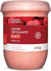 D'Água Natural Creme Esfoliante Apricot Forte Abrasão - 650g