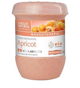 D'Água Natural Massoterapia Creme Esfoliante Apricot Média Abrasão 650g