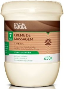 D'Água Natural Creme de Massagem Cafeína 7 Ativos - 650g
