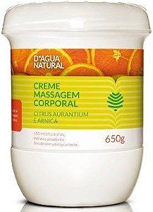 D'Água Natural Creme de Massagem Citrus - 650g