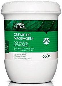 D'Água Natural Creme de Massagem Complexo Ecofloral - 650g