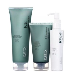 K.Pro Ice Shampoo Tea Tree Oil + Condicionador Tea Tree Oil e Menta  + Loção Scalp Energy