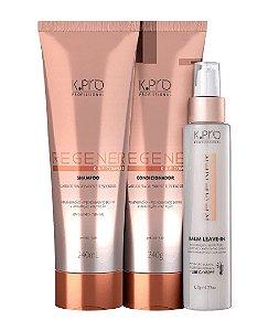 K.Pro Regenér Kit Shampoo + Condicionador 240g + Balm Leave-in 120g