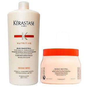 Kérastase Nutritive Magistral para Cabelos Severamente Ressecados Shampoo 1L + Máscara 500g