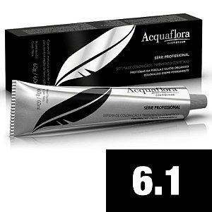 Acquaflora Coloração Permanente 6.1 - Louro Escuro Acinzentado - 60g