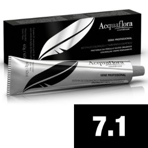 Acquaflora Coloração Permanente 7.1 - Louro Natural Acinzentado - 60g